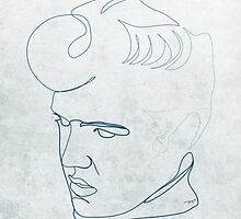 Elvis Presley one-line drawing by borol