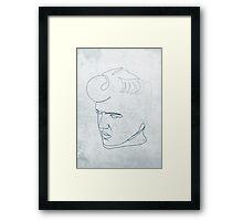 Elvis Presley one-line drawing Framed Print