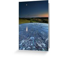 Moon Reflection in the Distances Greeting Card
