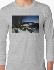 Speedboat In the Snow Long Sleeve T-Shirt