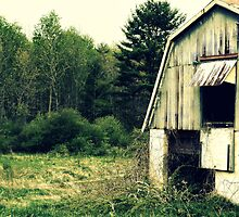 Vintage Barn upstate New York rural decay photograph by jemvistaprint