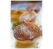 Caramelized Balsamic Onions Poster