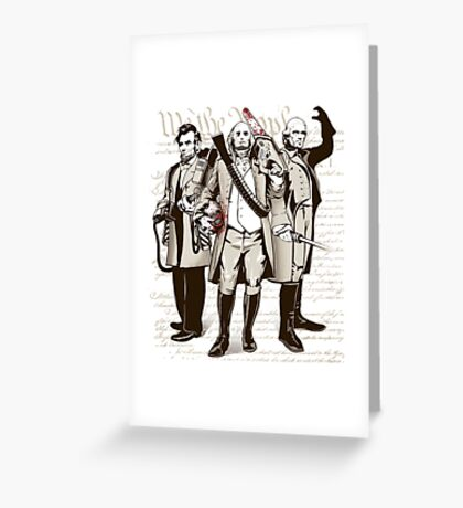 President Kick Asses Greeting Card