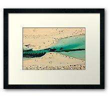 Tropical Crete, exotic Balos Framed Print