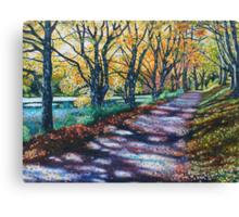 'AUTUMN SIGHS, LEAVES WHISPER' Canvas Print