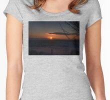 Snowy Yorkshire Sunrise Women's Fitted Scoop T-Shirt