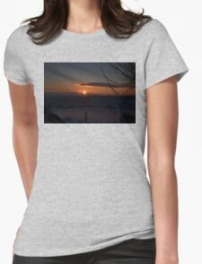 Snowy Yorkshire Sunrise Womens Fitted T-Shirt