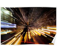 Downtown Denver - light painting Poster
