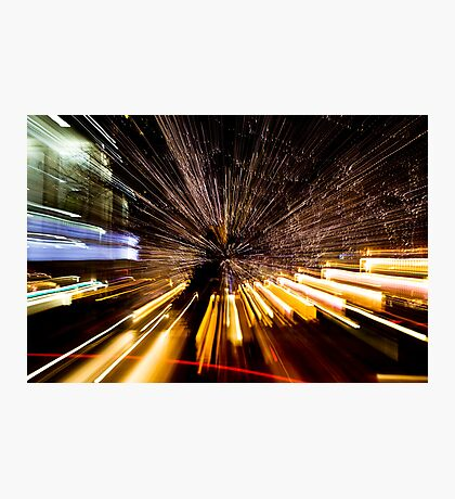 Downtown Denver - light painting Photographic Print