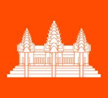 Angkor Wat / Khmer / Cambodian Flag Kids Tee