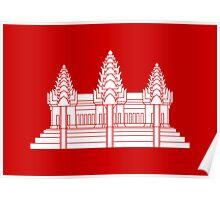 Angkor Wat / Khmer / Cambodian Flag Poster