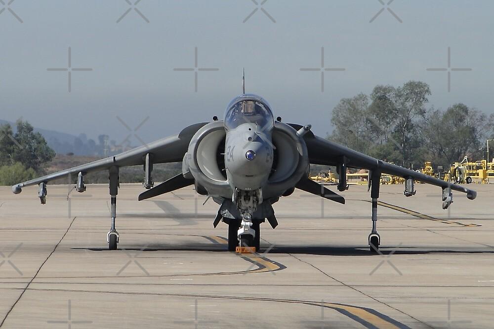 US Marine Corp Harrier II by Barrie Woodward