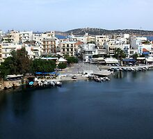 View of the Water Inlet on the Island of Crete in Greece 9 by JaguarJulie