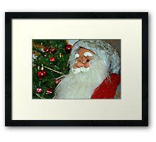 Santa with tree Framed Print