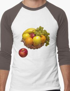 Bowl Of Fresh Fruit Men's Baseball ¾ T-Shirt