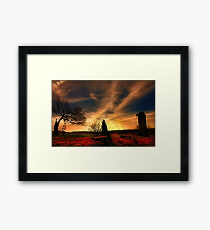 """ Trilogy of Fire "" Framed Print"