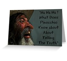 """""""To lie or not to lie """" Greeting Card"""