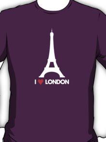 I Heart London Eiffel Tower - Joke T-Shirt  T-Shirt
