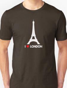 I Heart London Eiffel Tower - Joke T-Shirt  Unisex T-Shirt