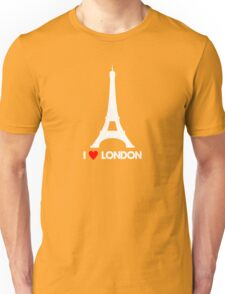 I Heart London Eiffel Tower - Joke T-Shirt  Unisex T-Shirt