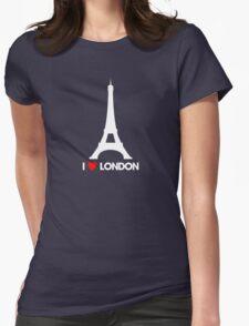 I Heart London Eiffel Tower - Joke T-Shirt  Womens Fitted T-Shirt