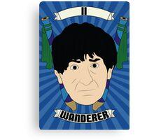 Doctor Who Portraits - Second Doctor - Wanderer Canvas Print