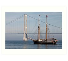 Great Belt Bridge and Britta Art Print