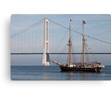 Great Belt Bridge and Britta Canvas Print