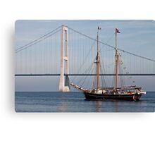 Great Belt Bridge and Britta Canvas Print