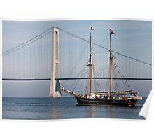 Great Belt Bridge and Britta Poster