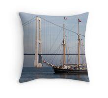 Great Belt Bridge and Britta Throw Pillow