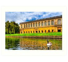 Punting on the Cam - Cambridge England Art Print