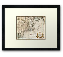 New England Ancient Map (1747) Framed Print
