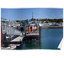 Lifeboat, Portpatrick, Scotland Poster
