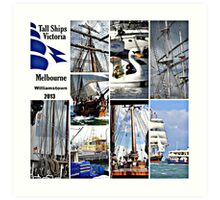 Melbourne International tall ship festival Art Print