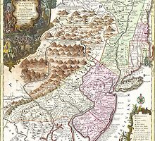 New England Ancient Map (1756) by VintageLevel
