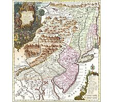 New England Ancient Map (1756) Photographic Print