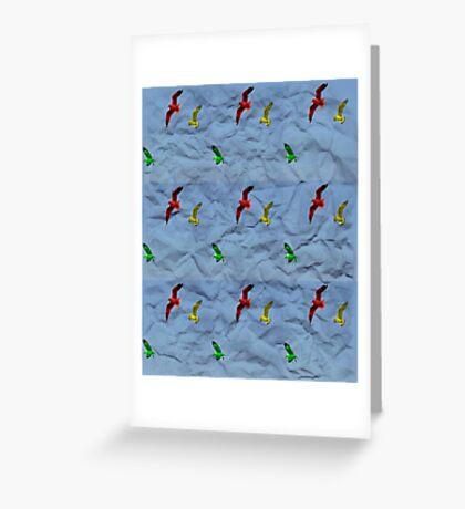 Crumpled birds Greeting Card