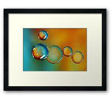 Bubble Drops Framed Print