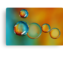 Bubble Drops Canvas Print