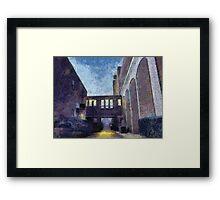 Breezeway & Walkway Framed Print