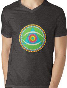 Gong Logo Mens V-Neck T-Shirt