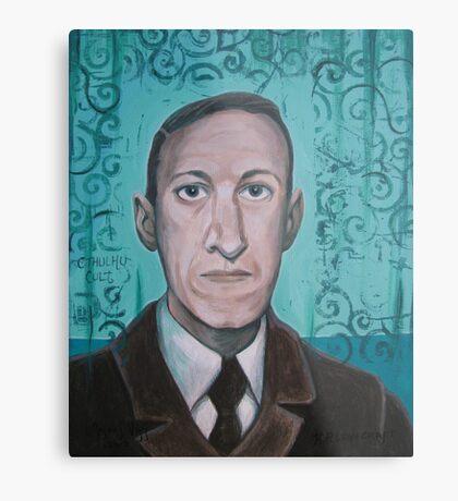 HP Lovecraft second portrait Metal Print