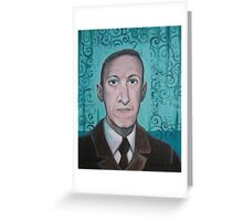 HP Lovecraft second portrait Greeting Card