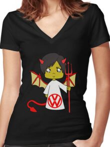 lovely vw T-Shirts & Hoodies Women's Fitted V-Neck T-Shirt