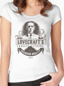 Lovecraft's Canned Octopus Women's Fitted Scoop T-Shirt