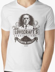 Lovecraft's Canned Octopus Mens V-Neck T-Shirt