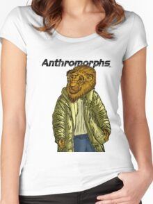 Anthromorphs Lion Women's Fitted Scoop T-Shirt
