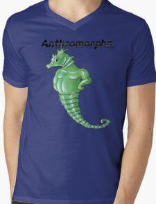 Anthromorphs Seahorse Mens V-Neck T-Shirt