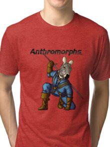 Anthromorphs Zebra Tri-blend T-Shirt